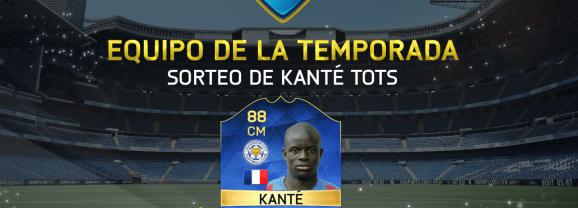 Sorteo de Kanté TOTS