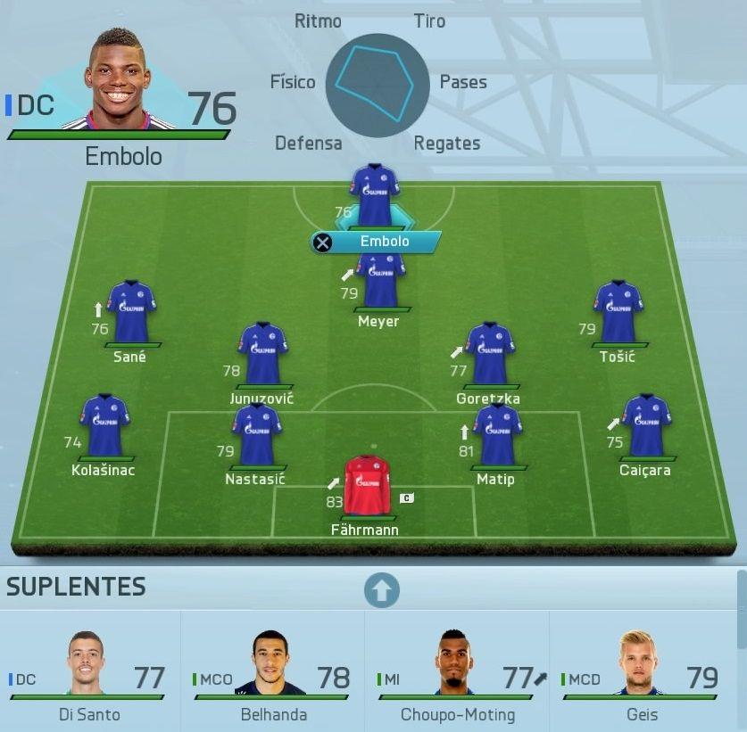 Alineación Schalke 04 Modo Carrera FIFA 16