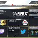 Ya está disponible la Web App de FIFA 17 Ultimate Team