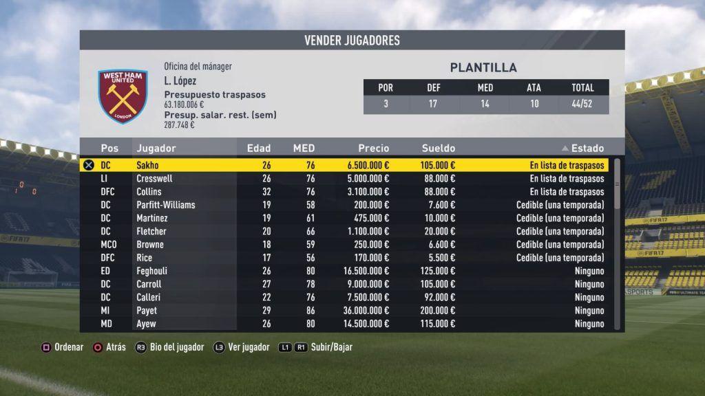 Modo Carrera FIFA 17