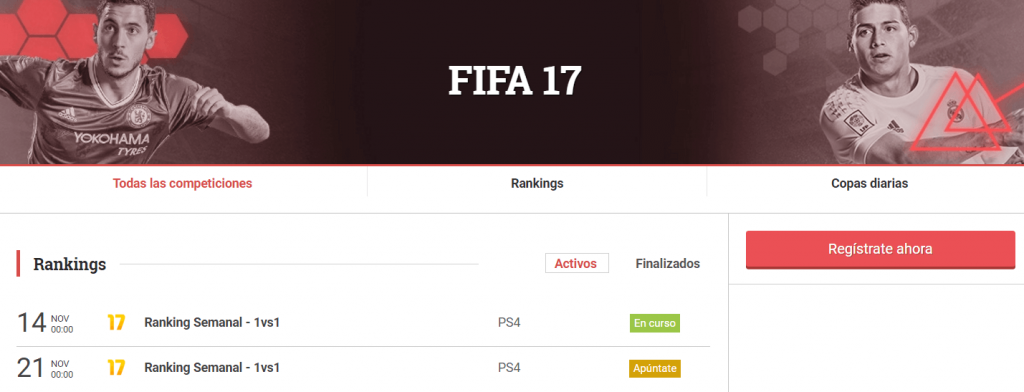 Competir FIFA 17 LVP