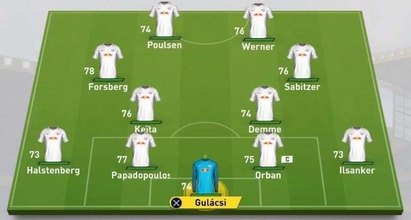 Alineación RB Leipzig FIFA 17
