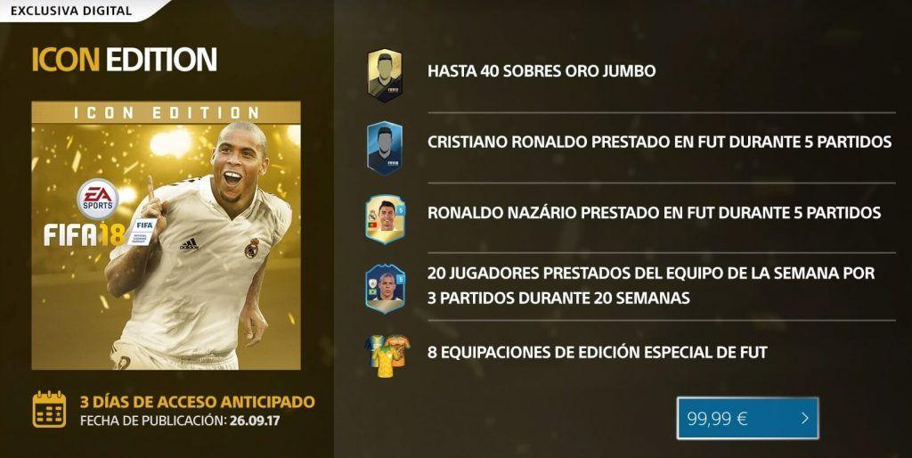 Icon Edition FIFA 18