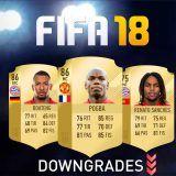 Predicción de medias de FIFA 18: Downgrades