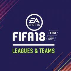 Listado con todas las ligas y equipos de FIFA 18