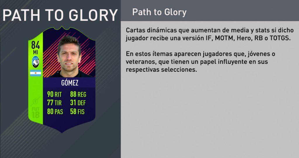 Cartas Path to Glory FIFA 18 Ultimate Team