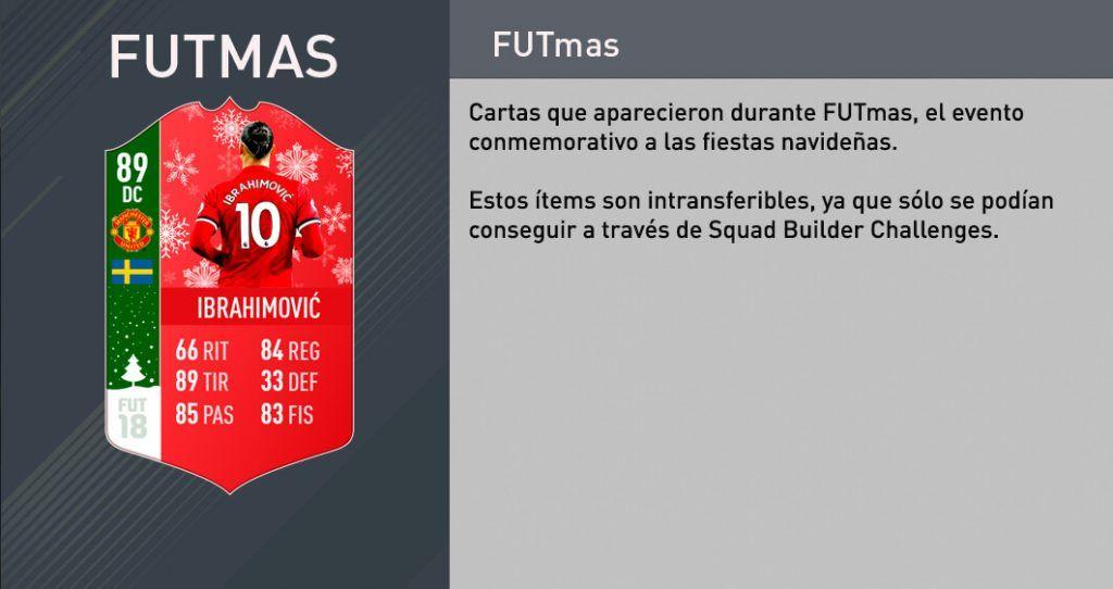 Cartas FUTmas FIFA 18 Ultimate Team
