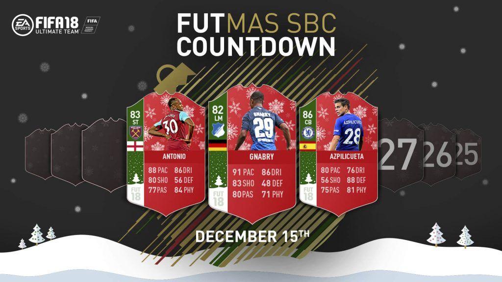 Jugadores SBC FUTmas FIFA 18 Ultimate Team