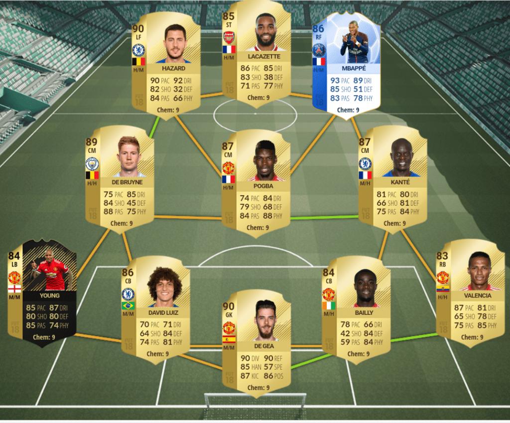 Híbrido con Pogba y Mbappé para FIFA 18 Ultimate Team