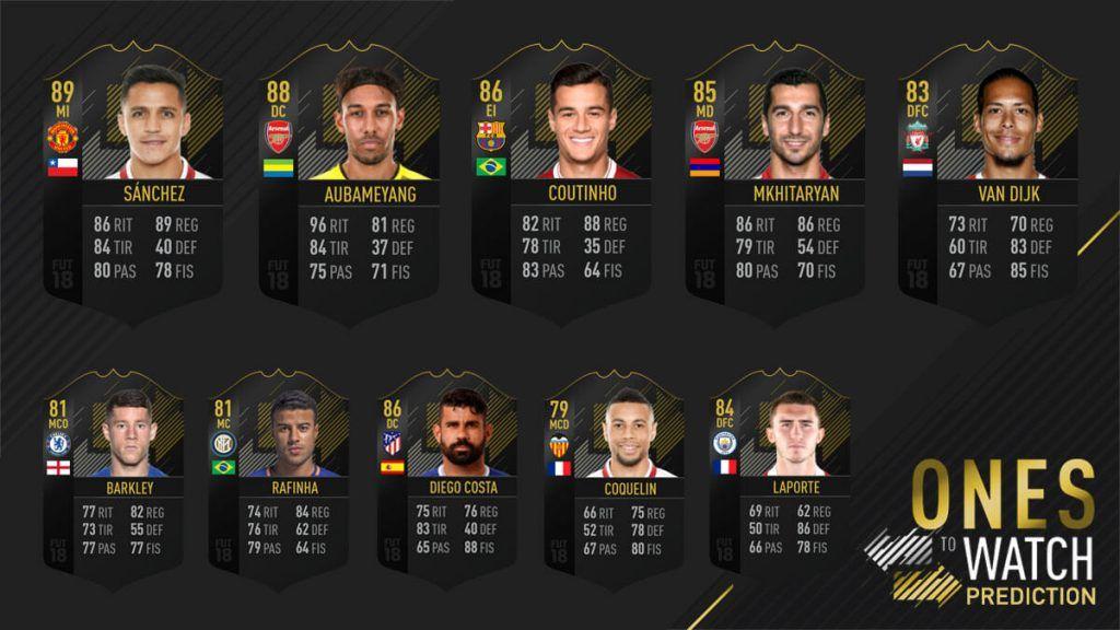 Predicción de los OTW de invierno de FIFA 18 Ultimate Team