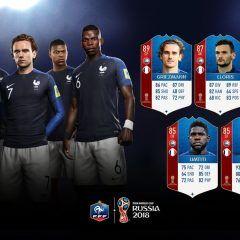 FIFA 18 World Cup. Cartas de los jugadores de Francia