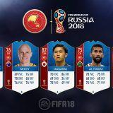FIFA 18 World Cup. Cartas de los jugadores de la AFC