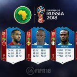 FIFA 18 World Cup. Cartas de los jugadores de la CAF