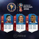 FIFA 18 World Cup. Cartas de los jugadores de la Conmebol