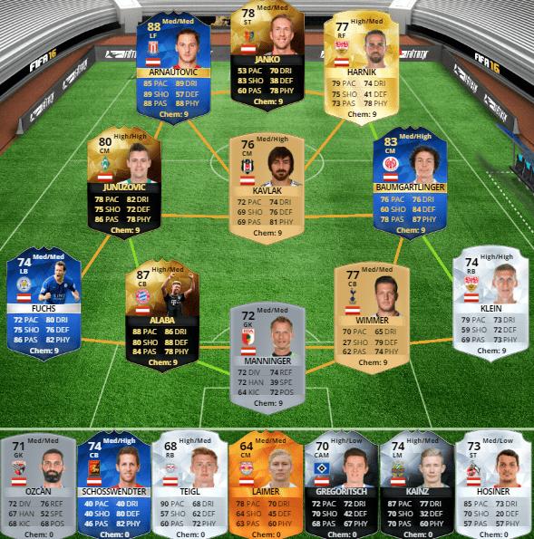 Selección de Austria en FUT 16