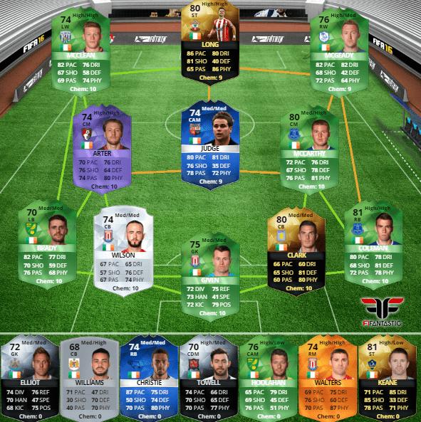 Selección de Irlanda en FUT 16