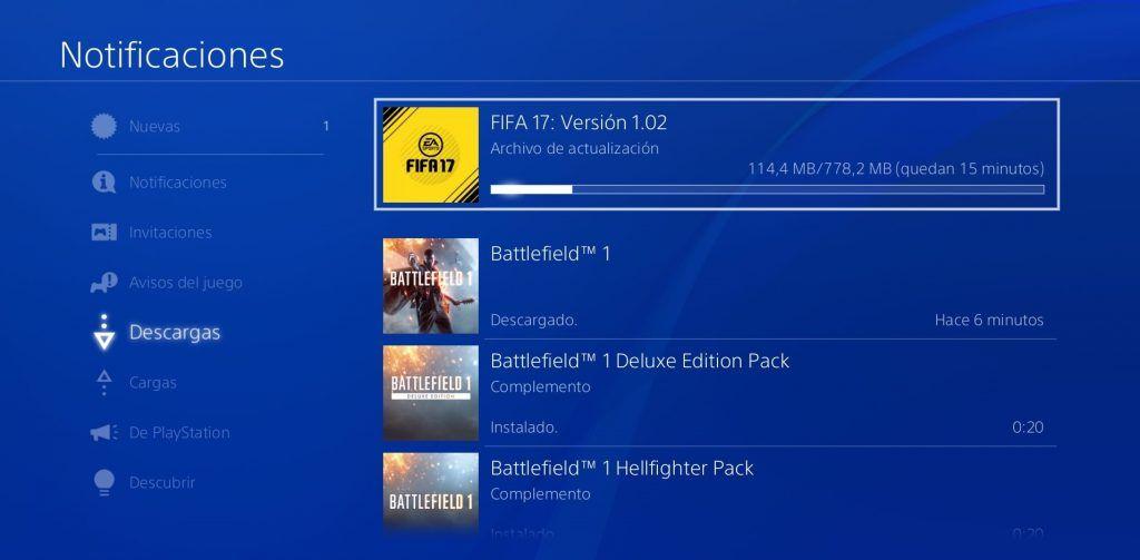 Actualización 1.02 FIFA 17 PS4, Update 1.02 FIFA 17 PS4