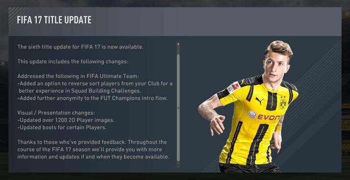 fifa 17 update 1.06