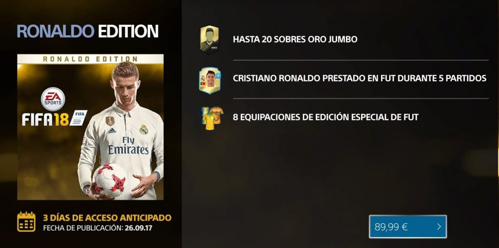 Ronaldo Edition FIFA 18