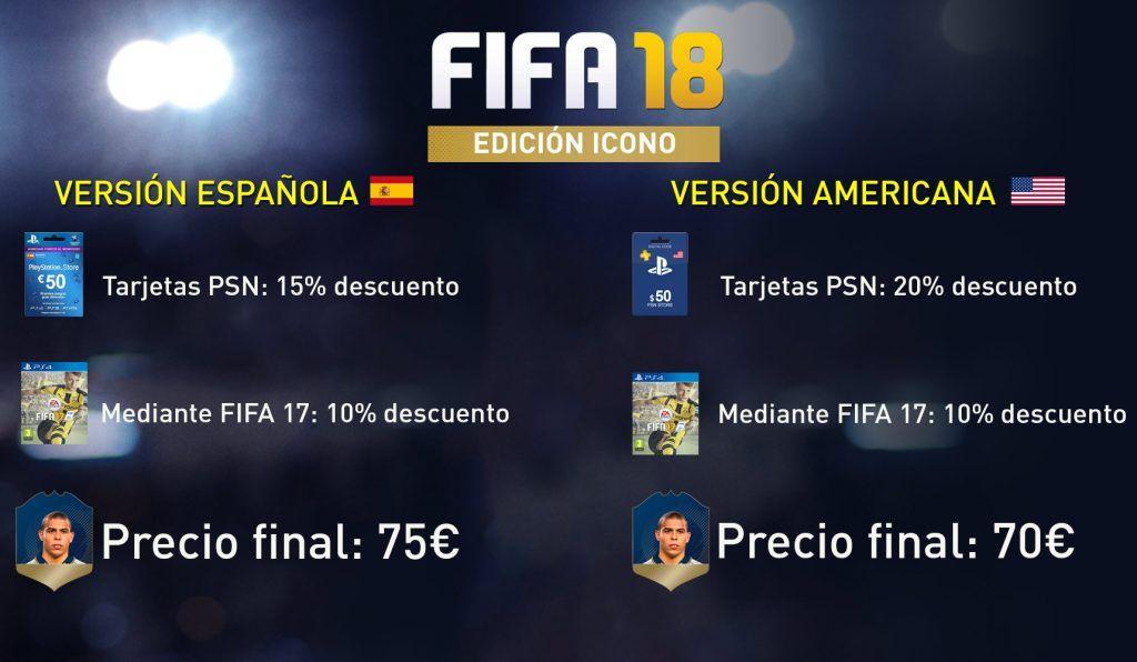 Precio Edición Icono FIFA 18