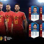 FUT 18 World Cup. Stats de los jugadores de Bélgica