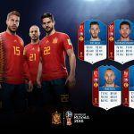 FIFA 18 World Cup. Cartas de los jugadores de España