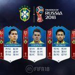 FIFA 18 World Cup. Cartas de los jugadores de Brasil