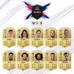 Los mejores Ratings de FIFA 19: 30 al 21
