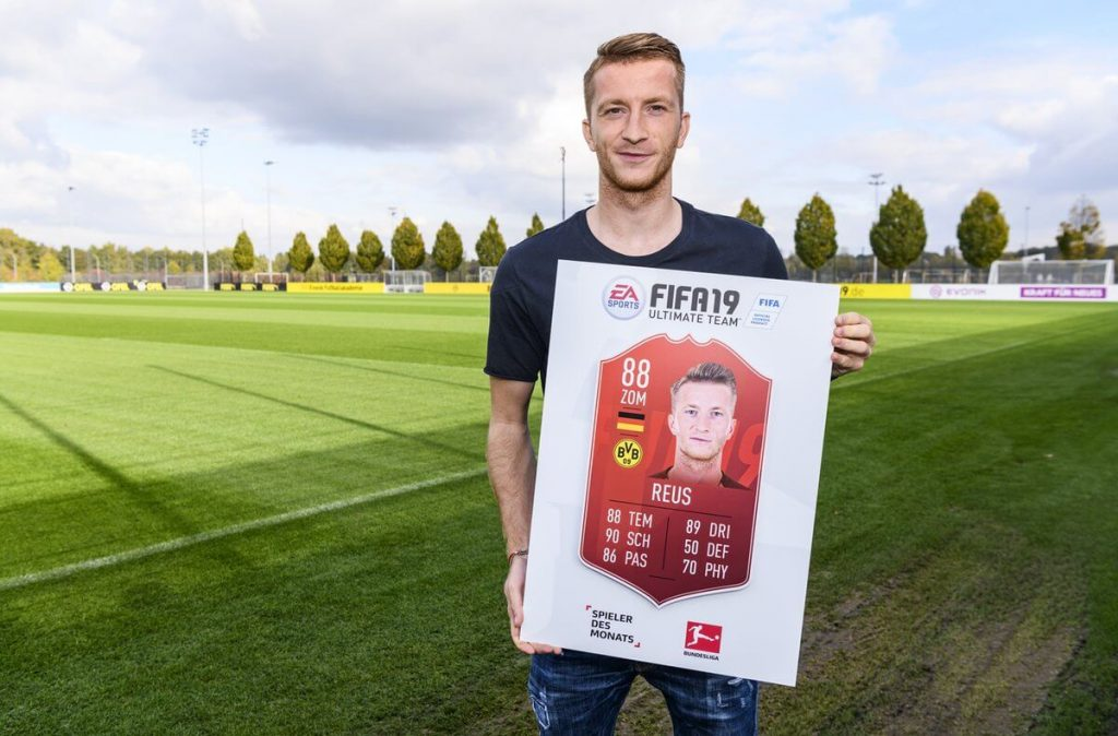 Reus POTM de la Bundesliga de septiembre de FUT 19