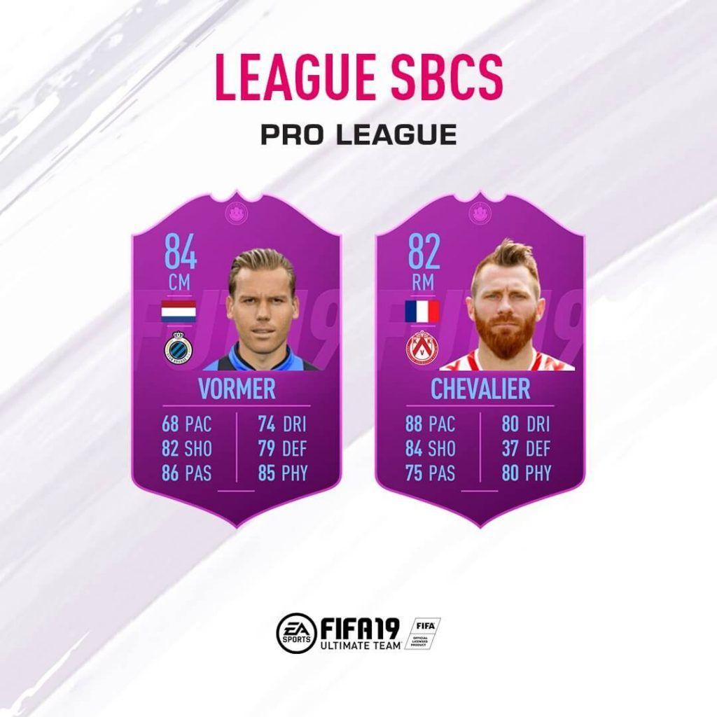 SBC de Liga de la Pro League FUT 19