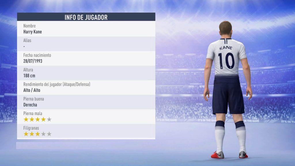 Estadísticas de Harry Kane para FIFA 19 Ultimate Team