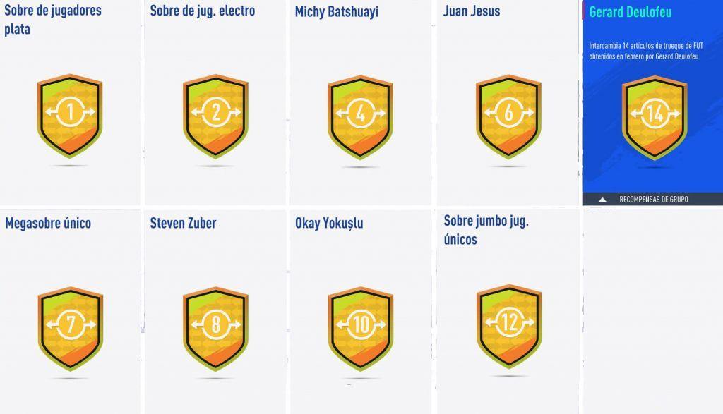 Premios Ocasiones de Trueque de febrero de FIFA 19 Ultimate Team