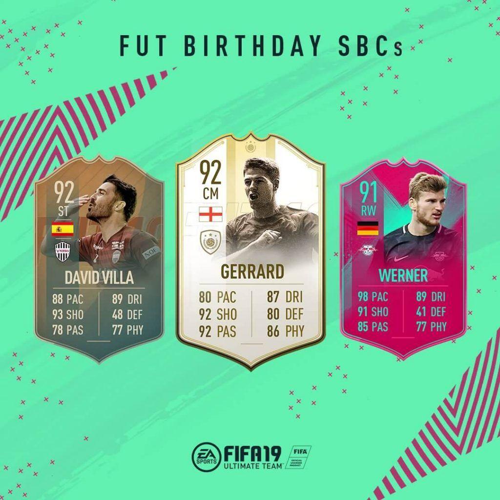 Jugadores FUT Birthday de FIFA 19