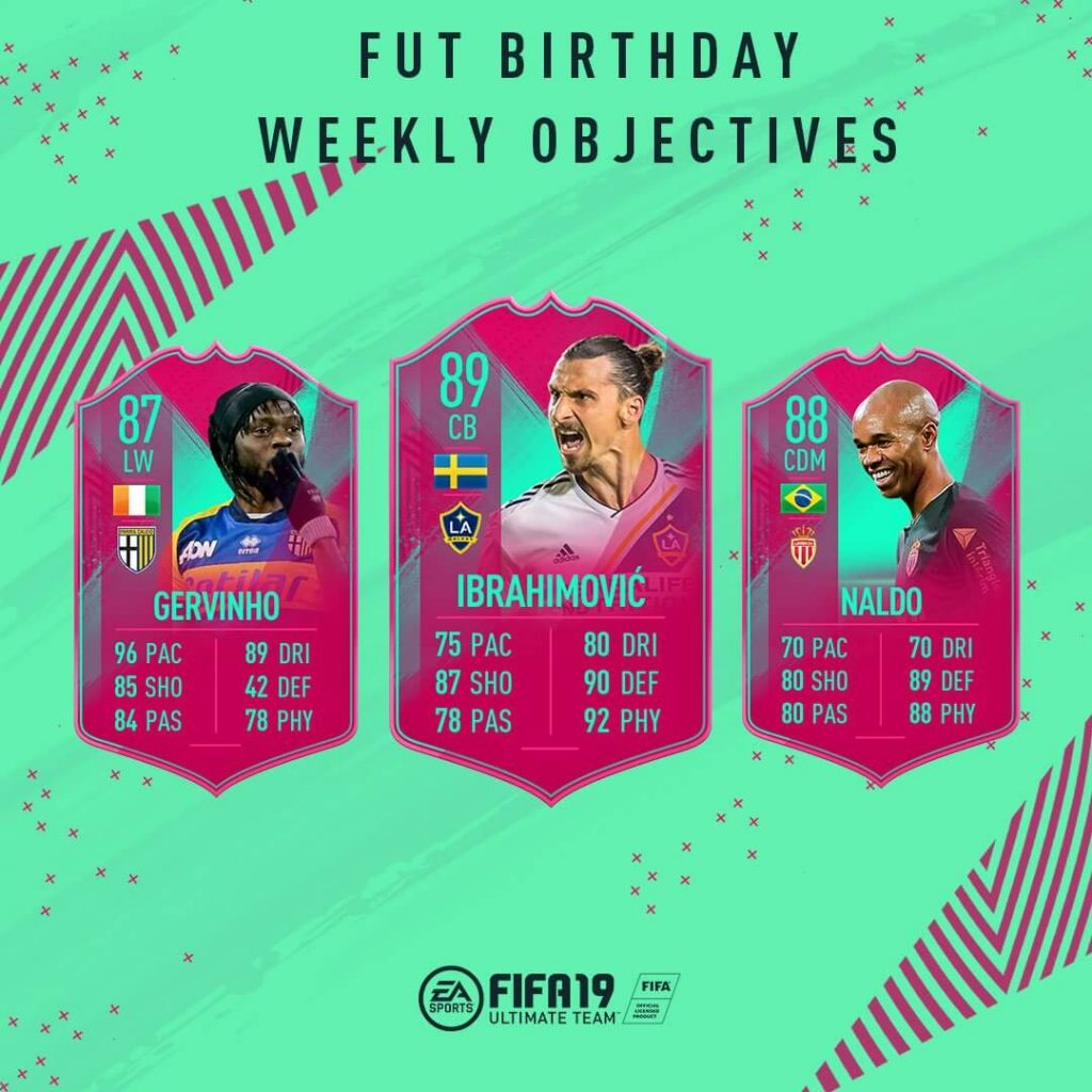 Objetivos semanales FUT Birthday de FIFA 19