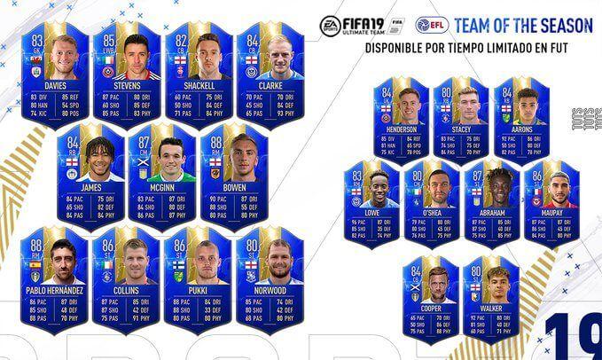 Team of the Season EFL FIFA 19 Ultimate Team