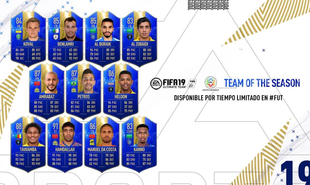 Team of the Season de la Saudi Professional League FIFA 19 Ultimate Team