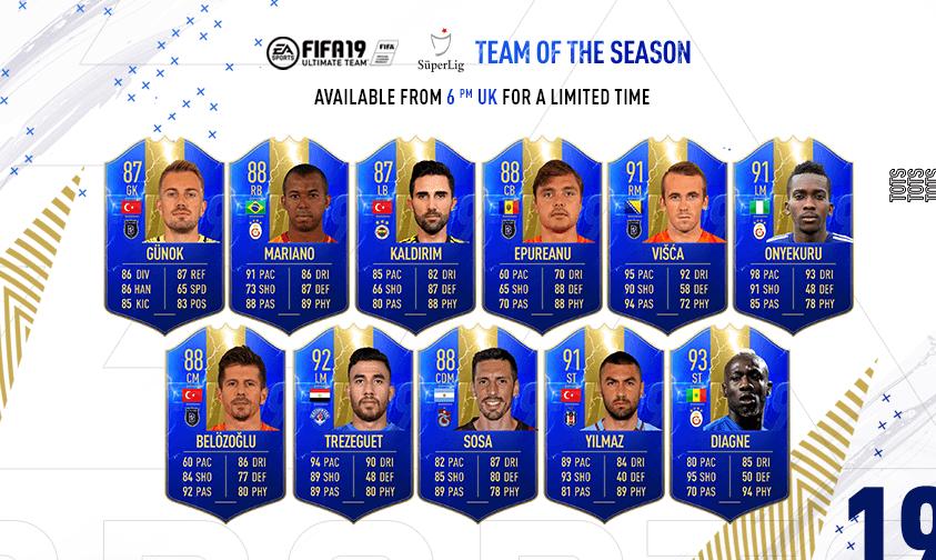 Team of the Season de la Süper Lig turca FIFA 19 Ultimate Team