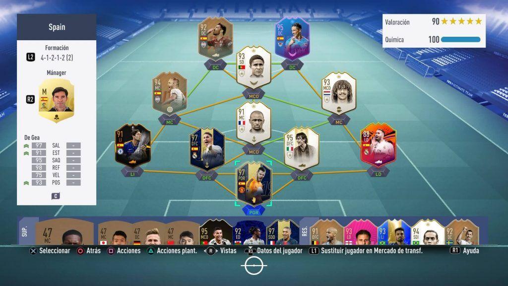 Equipo de españoles FIFA 19 Ultimate Team
