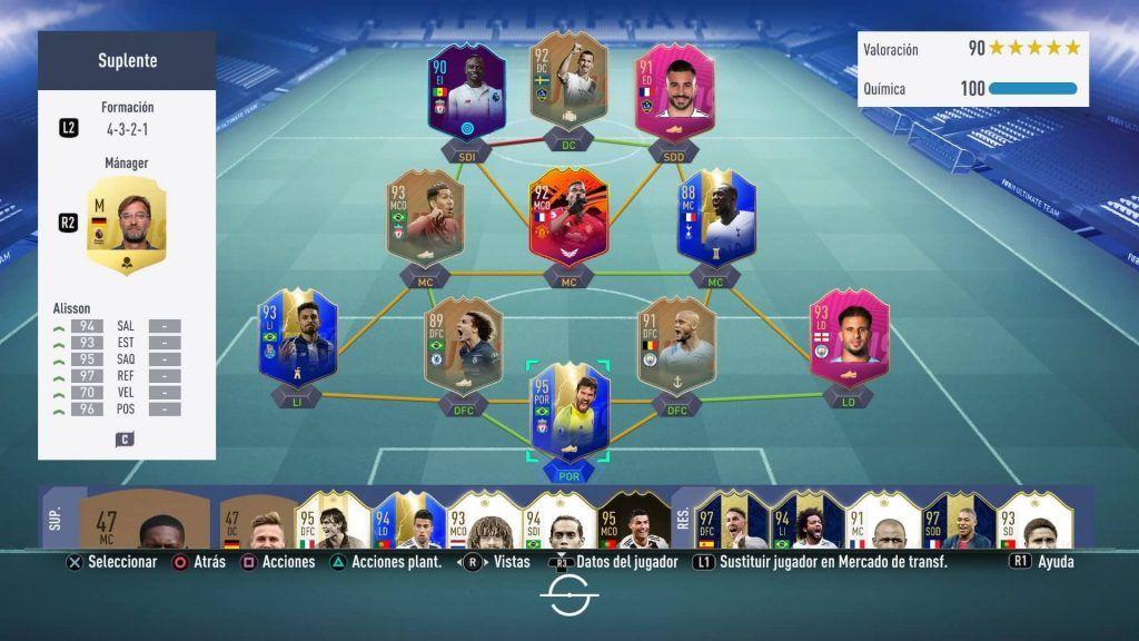 Híbrido con Ibrahimovic y Alessandrini FIFA 19 Ultimate Team