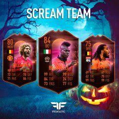 Precioso equipo con cuatro jugadores Scream