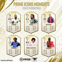 Predicción de stats de los nuevos Iconos de FIFA 20