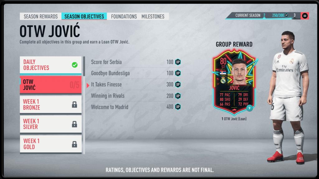 Objetivos de Temporada FIFA 20 Ultimate Team