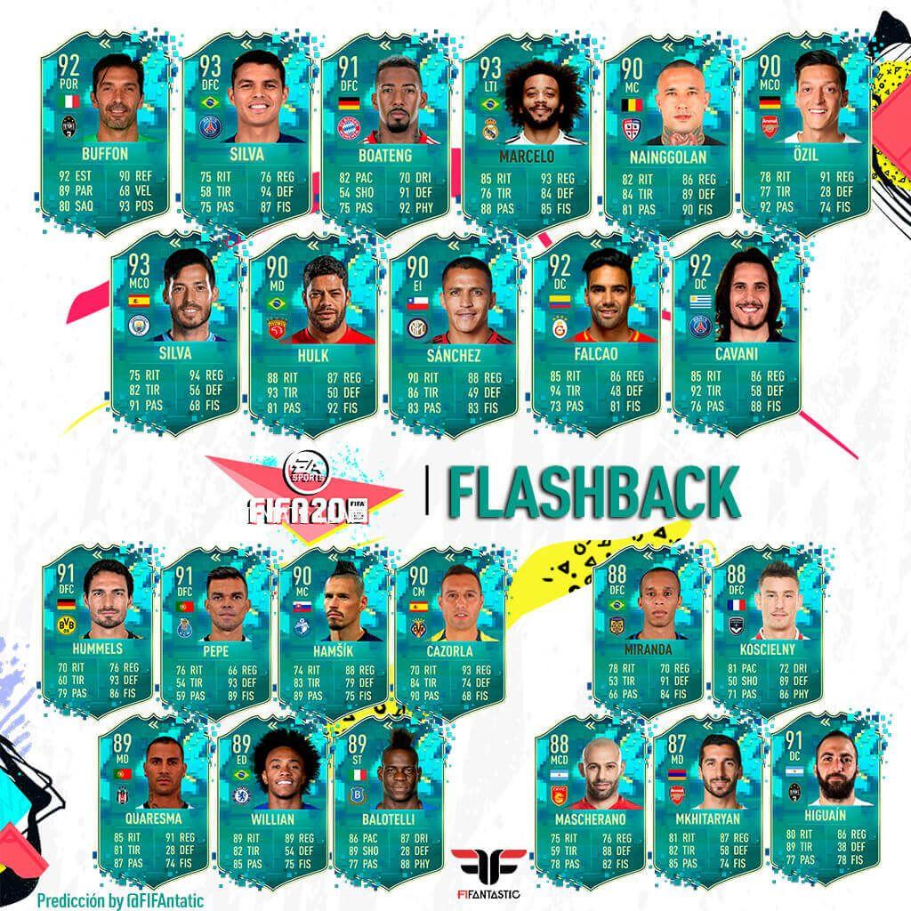Predicción de los futbolistas Flashback de FIFA 20