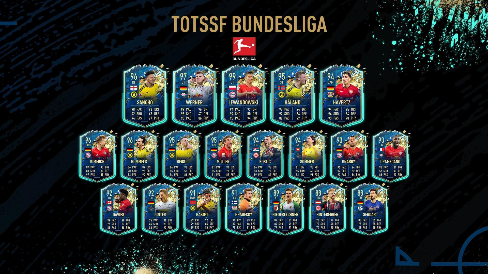 Team of the Season So Far de la Bundesliga FIFA 20 Ultimate Team