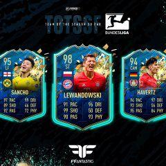 FIFA 20. Predicción del TOTSSF de la Bundesliga