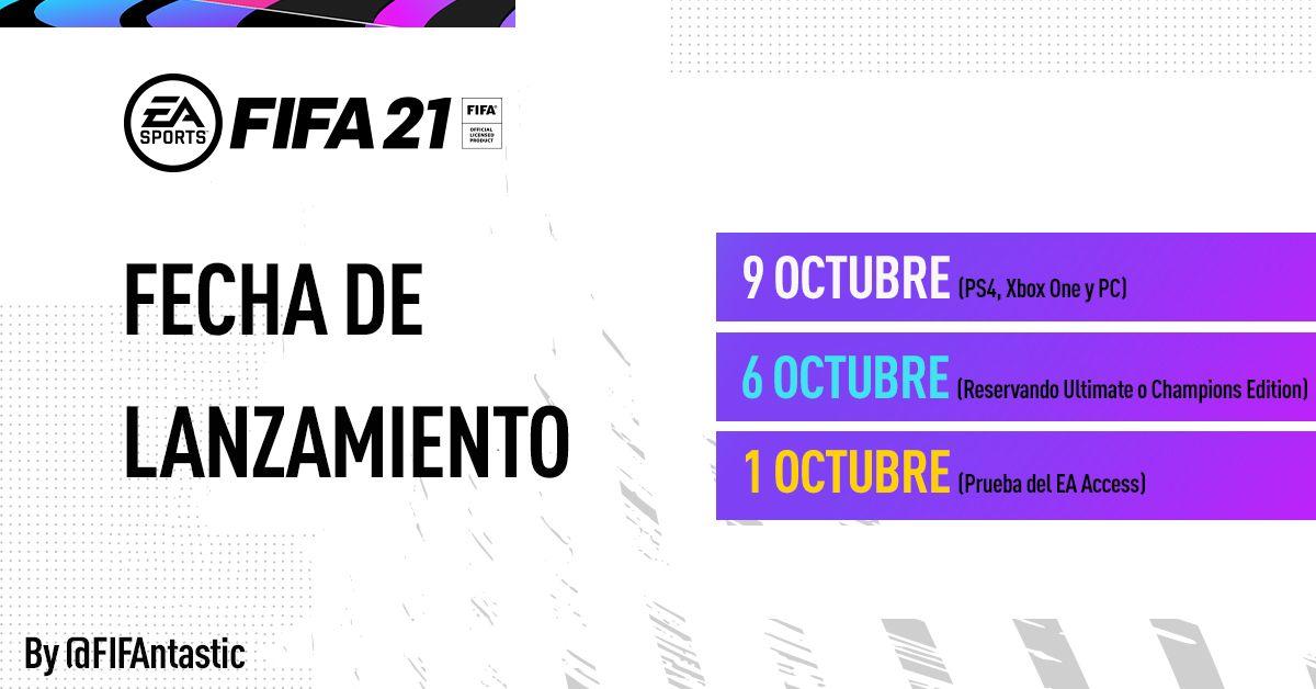 Fecha lanzamiento de FIFA 21