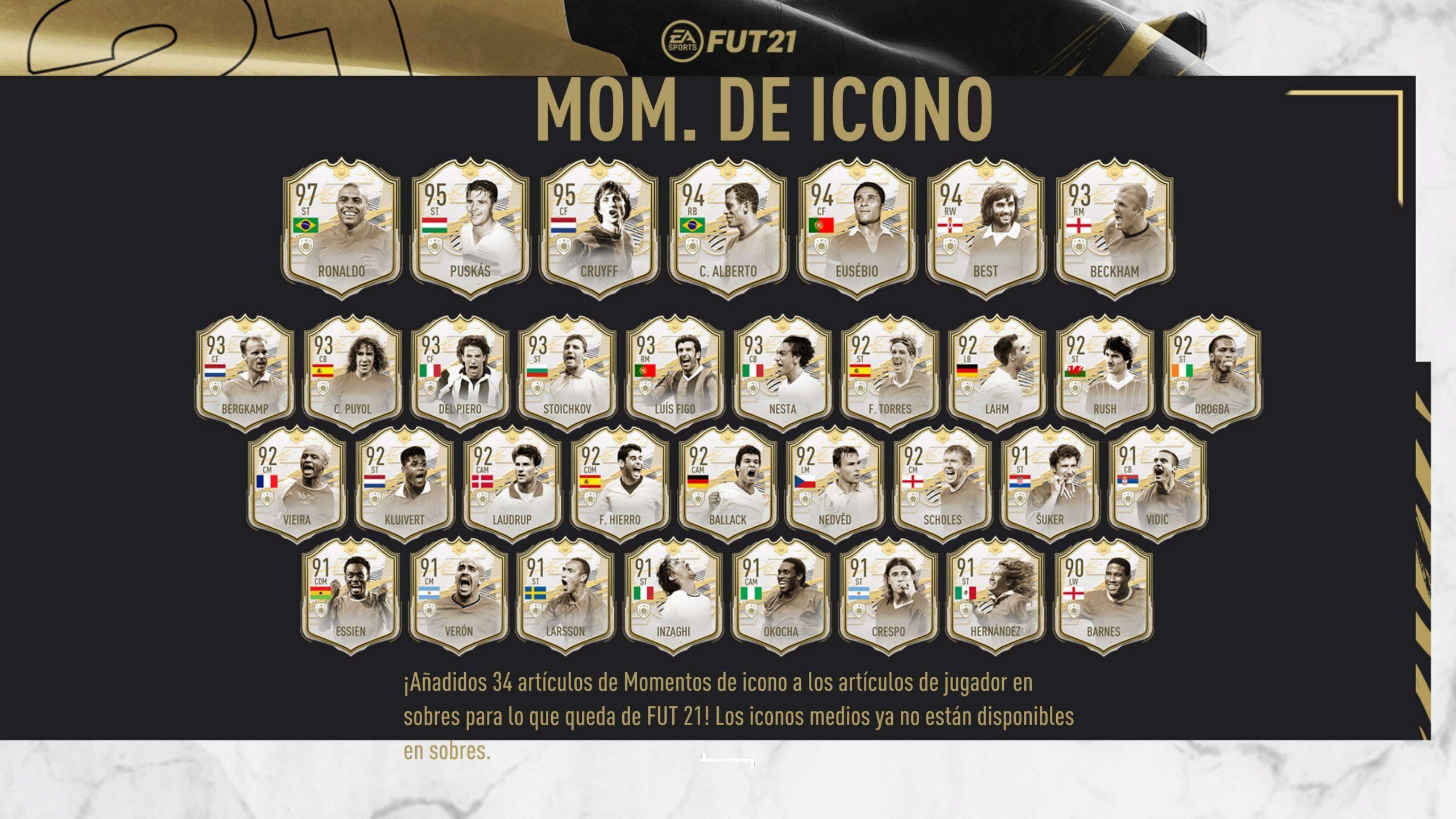 Iconos Prime Moments de FIFA 21 Ultimate Team