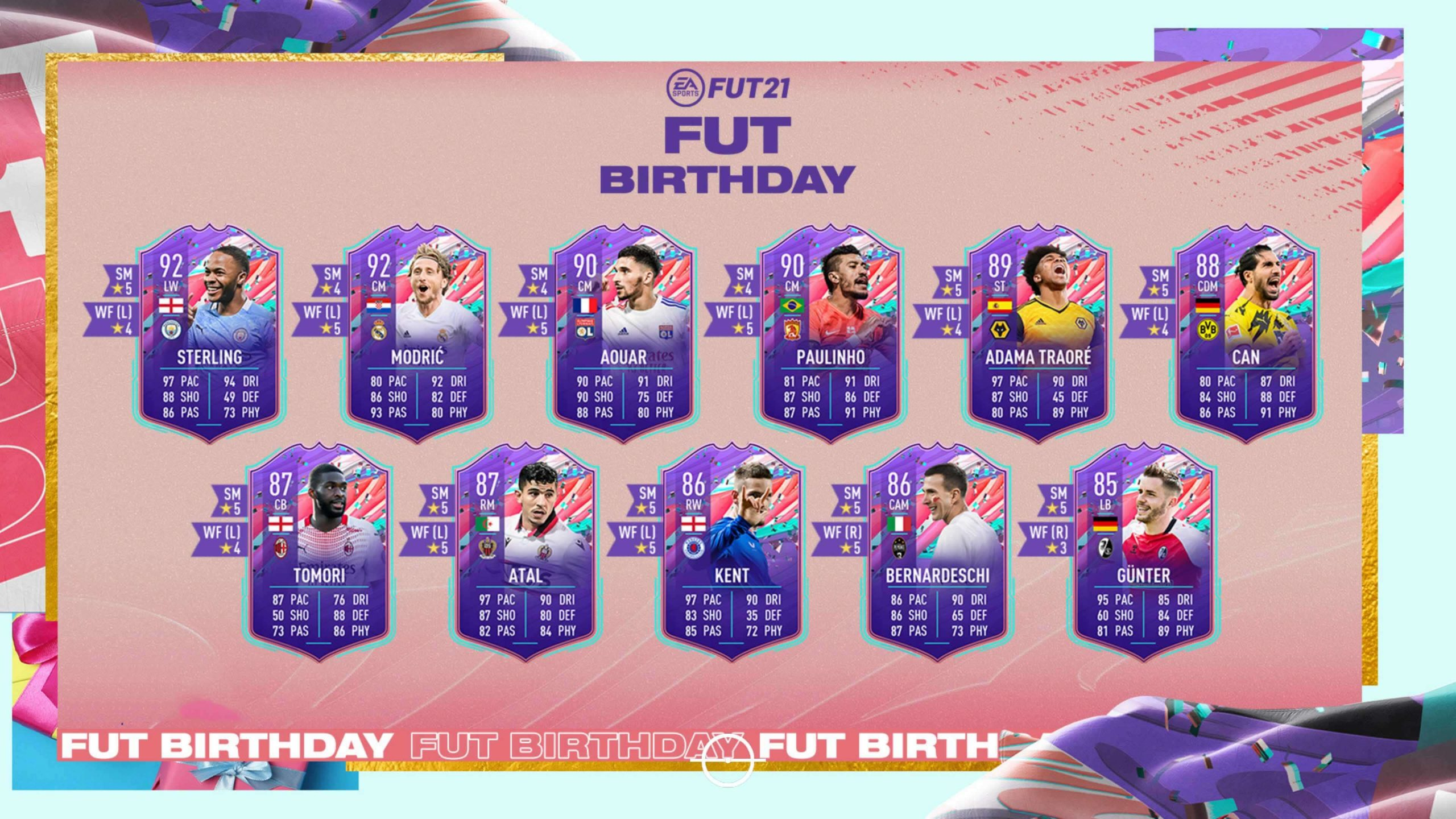 Segundo equipo de FUT Birthday de FIFA 21