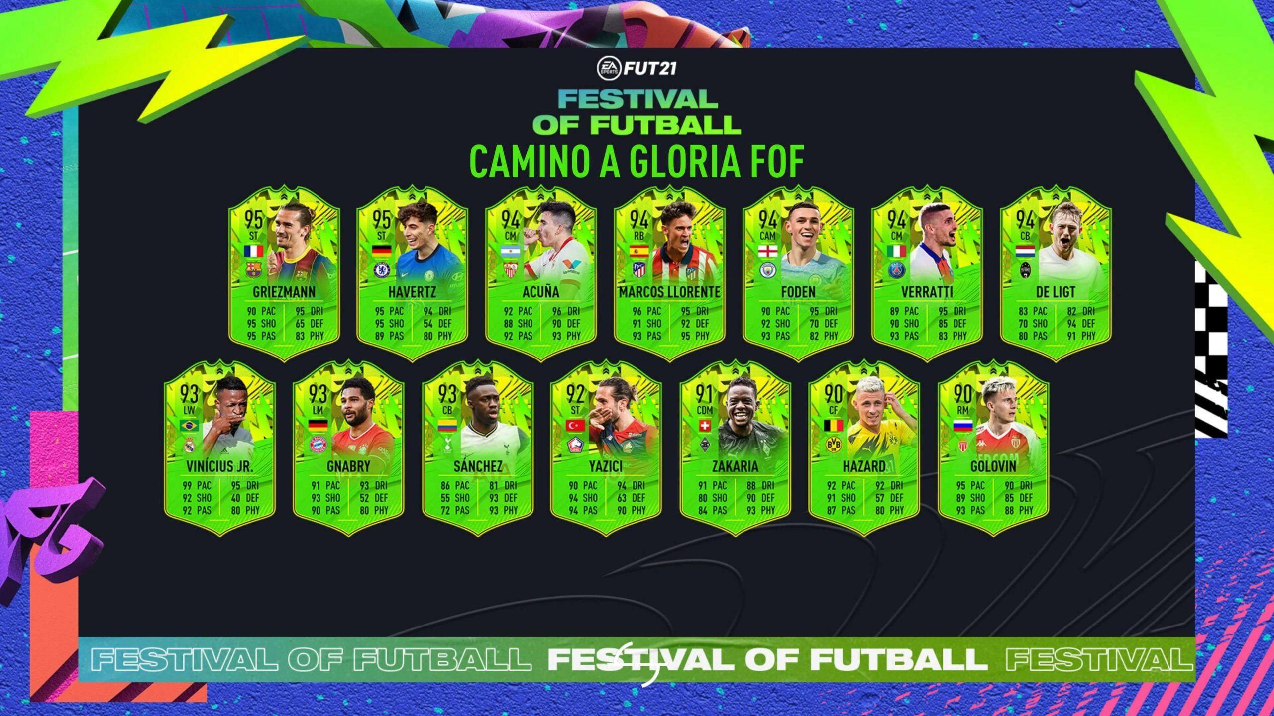 Primer equipo del Festival of Futball de FIFA 21 Ultimate Team