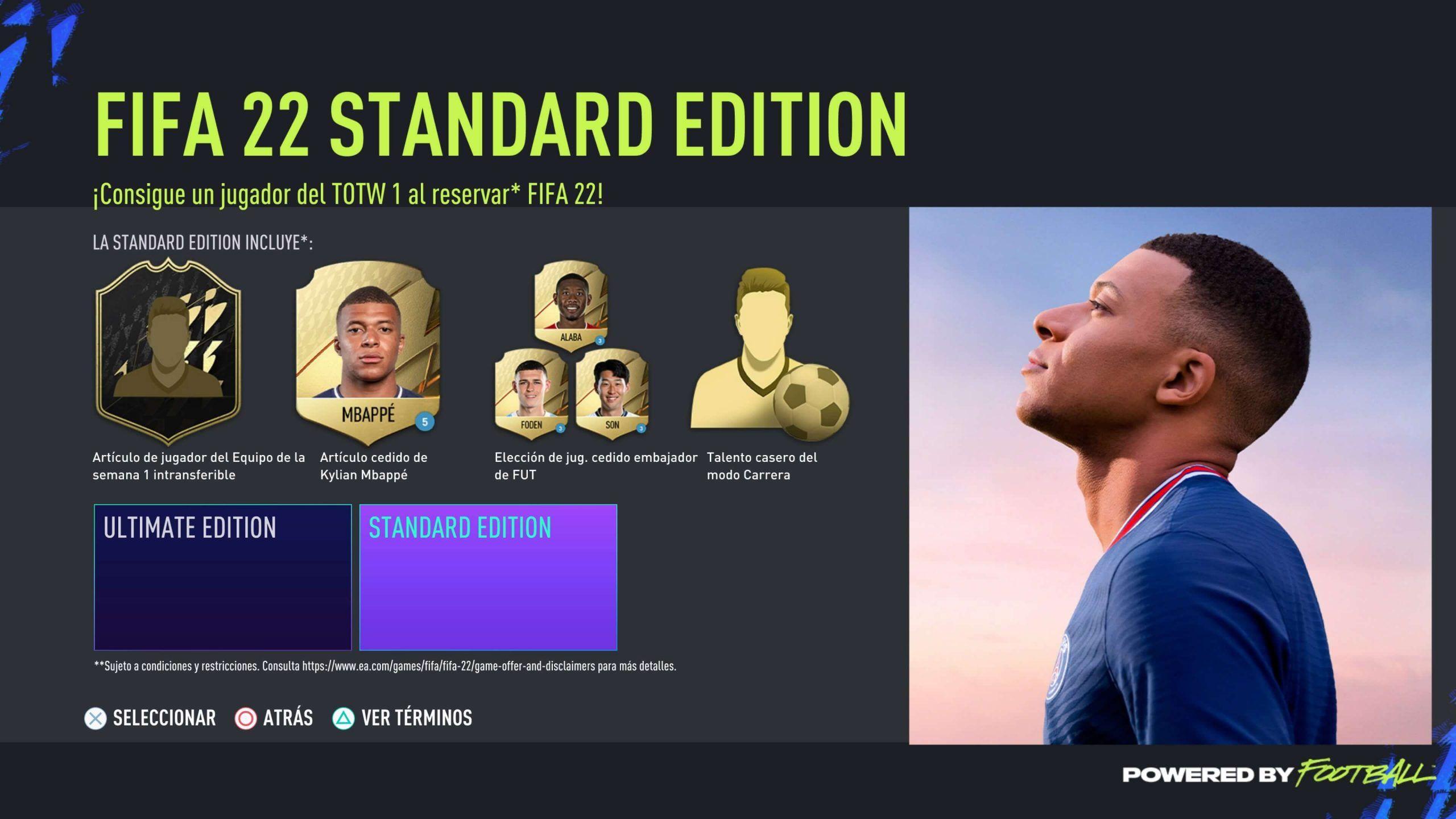 Edición Estándar de FIFA 22